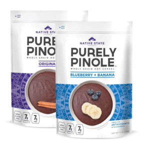 Purely Pinole Original + Blueberry and Banana Flavored Hot Cereal