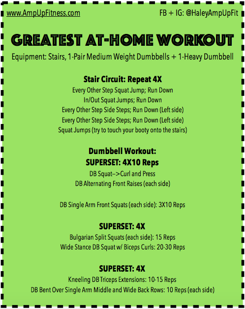 GREATEST AT HOME WORKOUT Amp Up Fitness